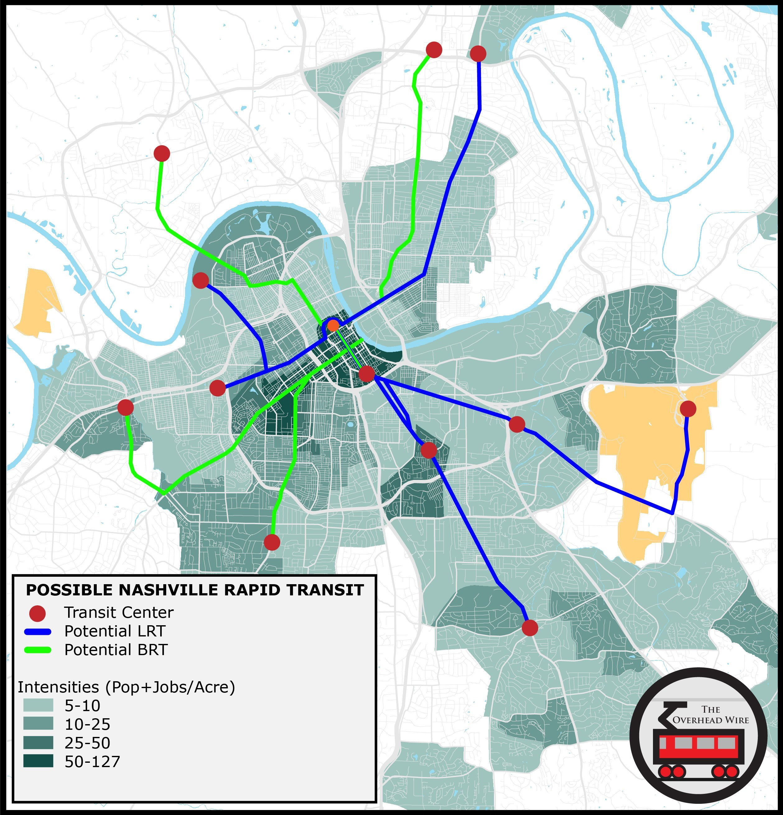 Old Data And Nashville Transit Expansion The Overhead Wire - Nashville on us map